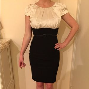 ABS black and white dress, size 4